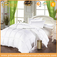 White Downproof 100% Cotton Shell Down Home Quilt&Duvet&Comforter With Baffle Box Construction