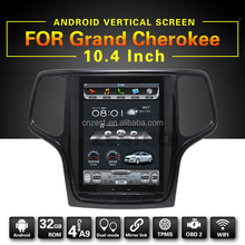 Android car radio with gps for for Jeep Grand Cherokee auto dvd multimedia system with WiFi BT 3G 10.4inch full touch