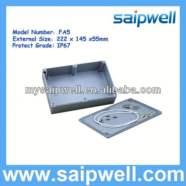 2013 NEWLY DESIGH IP67 WATERPROOF ALUMINUM ENCLOSURE FRO OUTDOOR USE