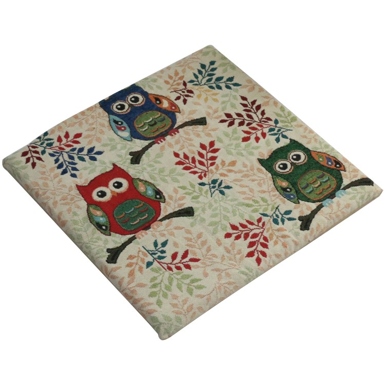 Owl Family Tapestry Sponge Chair Pad/Chair cushion
