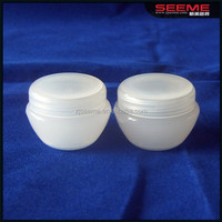 white plastic jar of 10g,great quality PP cream JAR made in CHINA,,cheap jar 5g/10g /20g/30g /50g