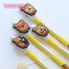 cute stationery yiwu 2018 newest design office supplies funny dog shaped erasable ink pens free samples