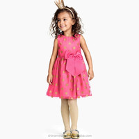 MS67893C fashion sleeveless polka dots kids dress simple frock design for girl