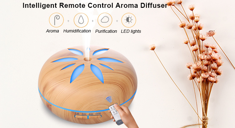 remote control decorative aroma wood grain ultrasonic electric aromatherapy essential oil diffuser