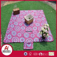 Polar fleece picnic mat , Waterproof printed polar fleece rug, Outdoor picnic play picnic blanket