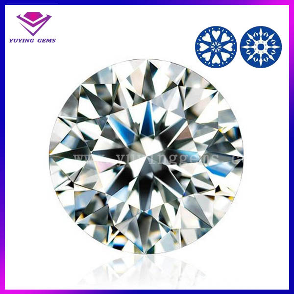 China hot sale round brilliant cut synthetic 5.0mm round white signity cz