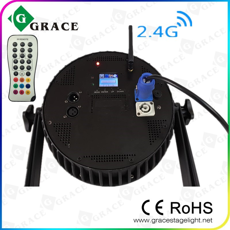 18*18W RGBWAUV 6IN11.77inch TFT LCD dispaly with IRC and wireless dmx led flat par
