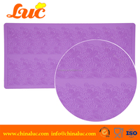 100% home made DIY LSM3215 silicon lace mat custom silicone baking mats for cake decorating