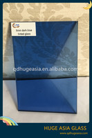 10mm Dark Blue Tinted Glass for Building Materials, Tinted Glass Price