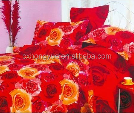 China 100% Polyester Big Flowers Design disperse printed fabric for bedding ,curtain/Printed bedding Fabric