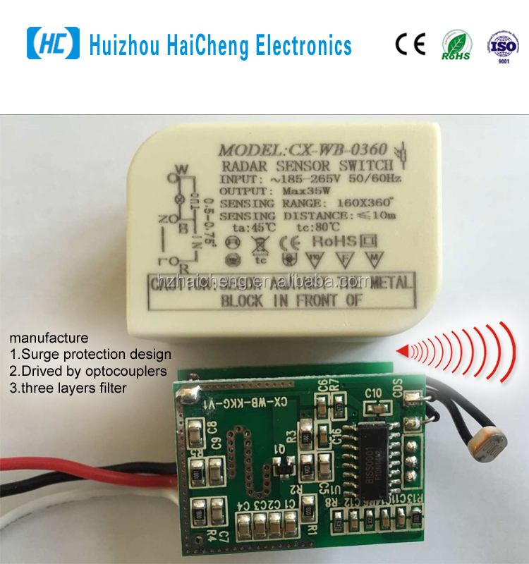 5.8GHz microwave doppler radar sensor Intelligent switch