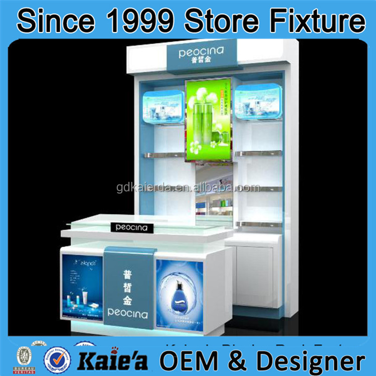 new products cosmetic store display, mac cosmetic display