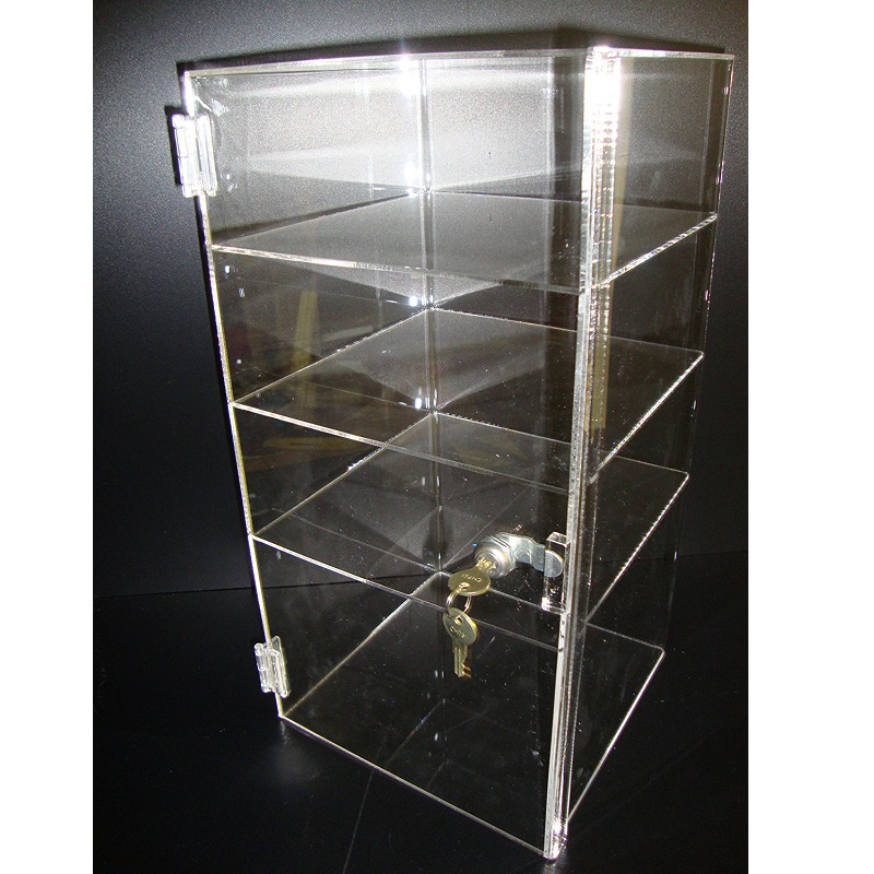 3 tier cheap modern acrylic countertop cosmetics box display stand