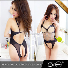 New Open Chest Open Crotch Teddy Erotic Beautiful Japan Hot Sex Girl Photo Lingerie
