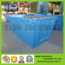 5m customized standard industrial steel skip recycle waste skip bin