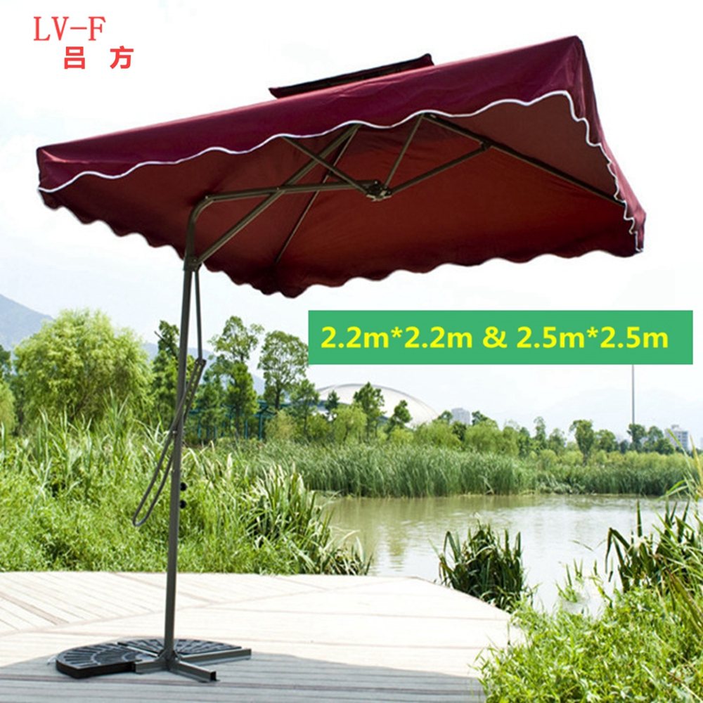Wholesale Customized Aluminum outdoor umbrella /garden sun beach umbrella Courtyard umbrella