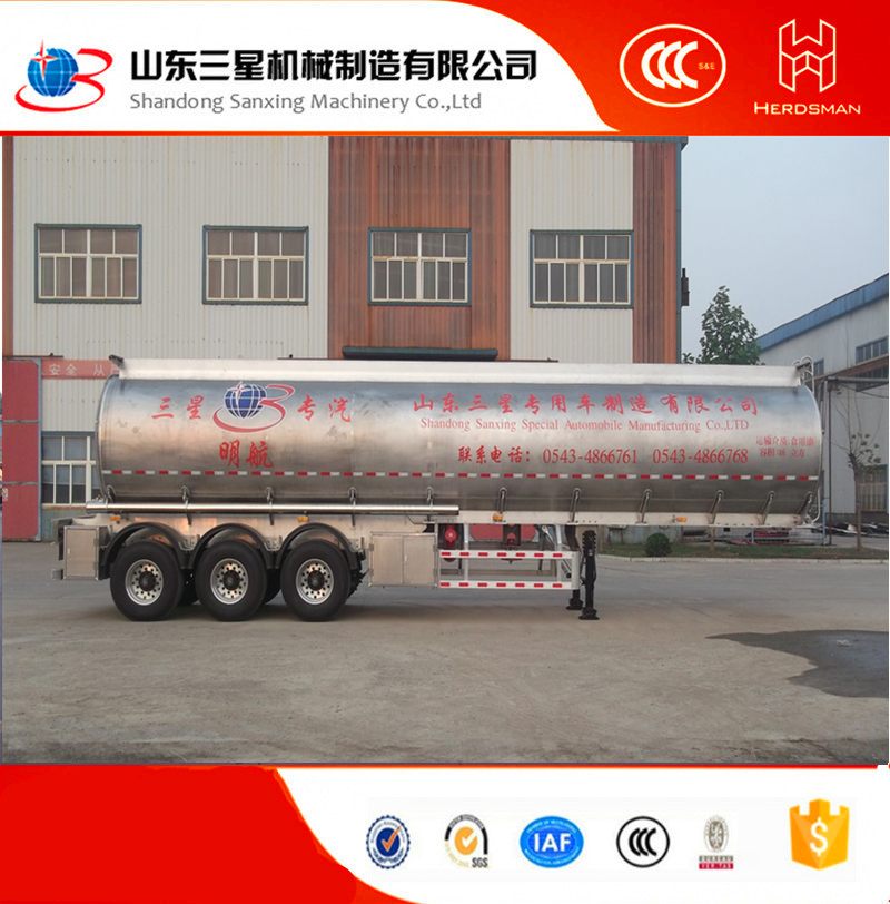 China Carton stainless steel fuel Trailer for sale