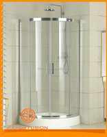 double wheels round corner shower stall units