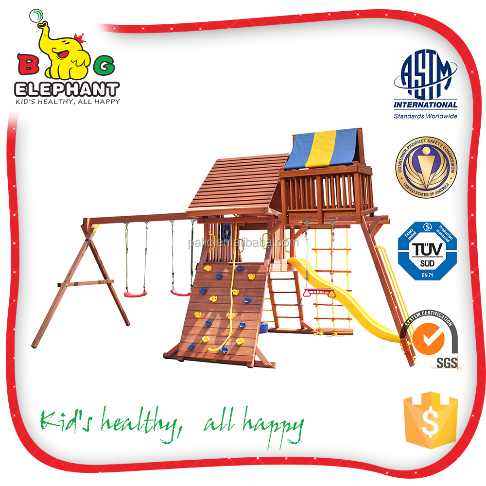 2016 hot selling outdoor assemble china swing set