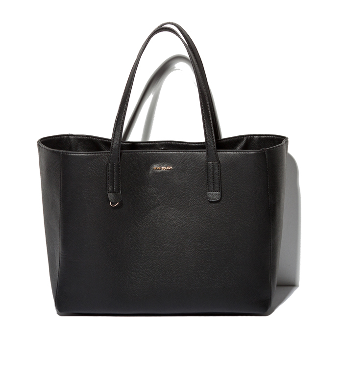 Designer Messenger bag brand famous Pure Black Leather Handbags Free Shipping