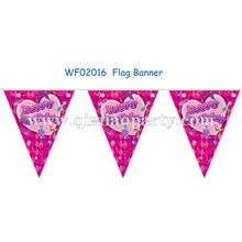 plum purple 2017 new popular hot style happy birthday USA FLAG with All over the world