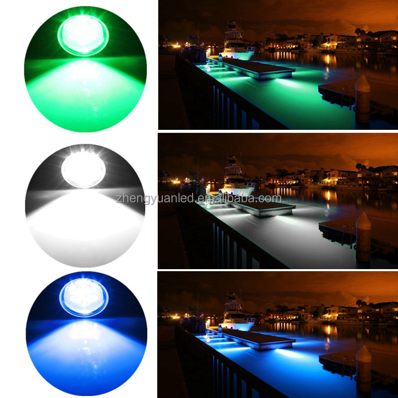 ZHENGYUAN IP 68 27w remote control yacht led light multi color rgb boat led underwater led pool light remote control