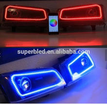 Top popular mobile controller colors change RGBW rgb color led angel eyes for universal car