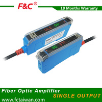 16us high speed digital display fiber optic amplifier and fiber optic sensor