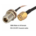 Factory OEM RG316 RF Coaxial Cable SMA Male to N Female connector