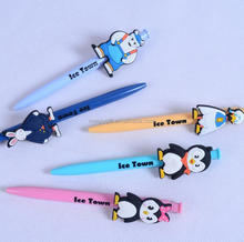 cute cartoon character rubber ball pen