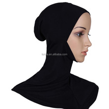 Full cover muslim inner hijab modal underscarf plain color women tudung malaysia