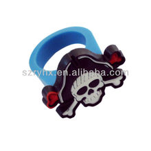 Shenzhen manufacturer 3d fashion skull finger ring