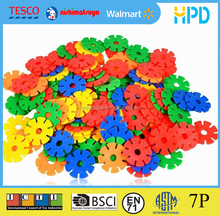 PP 3D Puzzle Plastic Bricks Toys Snowflake Building Block For Kids