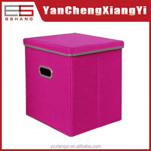 MZ-07 Felt Non woven / paper board ring handle Folded plastic makeup drawers