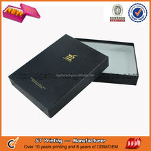 Gold stamping wax paper box with logo