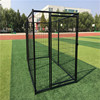 New design galvanized eco-friendly and stocked powder coating large outdoor wrought iron dog cages/dog kennels