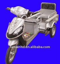 Electric passenger-cargo dual-purpose tricycle