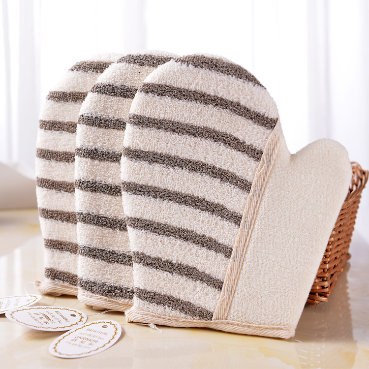 Specialized Personalized design polyester towel cloth glove and sisal soap glove