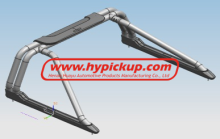 High quality 2009-2013 Toyota Vigo Thai Style Roll Bar with PU for Toyota Hilux Vigo