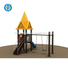 Factory price kids funny europe castle small outdoor playground swing playground equipment
