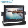 FEELWORLD waveform metal case design 3G-SDI high definition 7 inch professional camera monitor with F970 battery plate