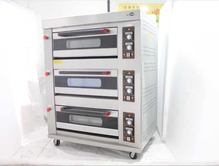 Shentop STPL-R36 3 deck 6 trays commercial bakery oven gas 3 deck bakery oven