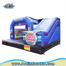 Party theme inflatable bouncer for sale, Cartoon inflatable bounce house for kids, Disco party inflatable bounce castle