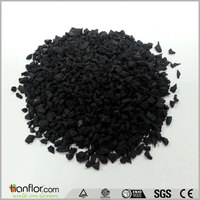 football artificial grass carpet SBR black / clorful rubber granules for grass