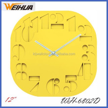 High quality Plastic modern colorful wall clock