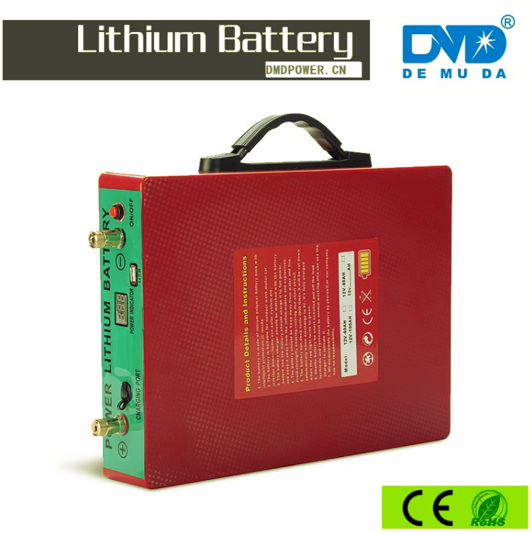 2000 Cycle life 12v 24v 100Ah/200ah/300ah lithium ion battery with LED indicator and built in BMS