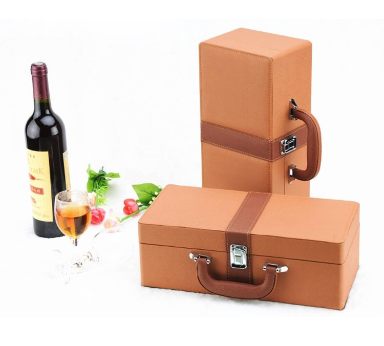 PU Leather Wine Box,Wine Case,Leather Wine Carrier