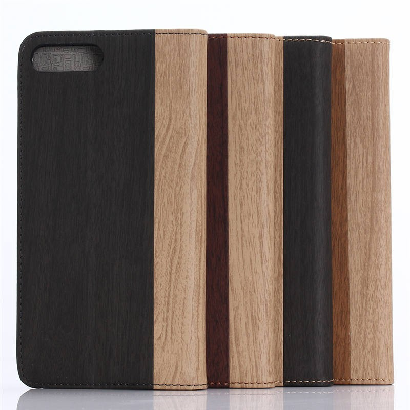 for iphone7 plus business style ,Wood Grain Pattern Leather Wallet Case for iphone 7 Plus