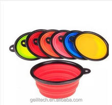 1000ml or 350ml custom logo 7 color silicone Collapsible dog bowl