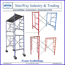Hot Sale Frame Scaffolding System, Frame Scaffolding with Caster Wheels
